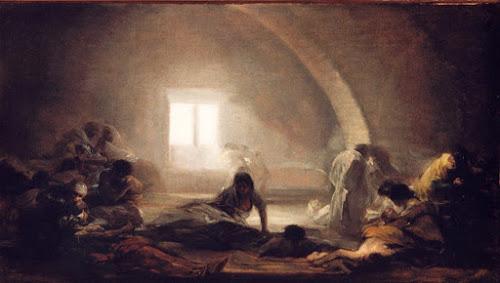 Corral de apestados, Francisco de Goya