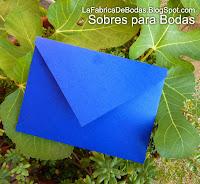 Finos sobres para tarjeta boda  azul morado rojo boda guatemala