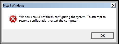 "[Fix Error] Hướng dẫn sửa lỗi ""Windows could not finish configuring the system. To attempt to resume configuration, restart the computer"""