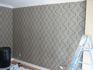 Bedroom wallpaper installation