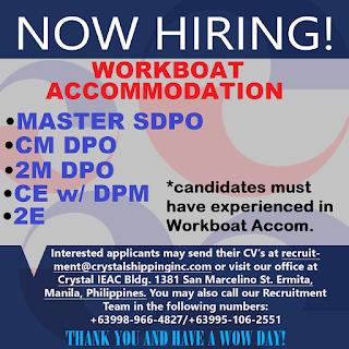 Hiring Filipino Crew For Workboat Accommodation