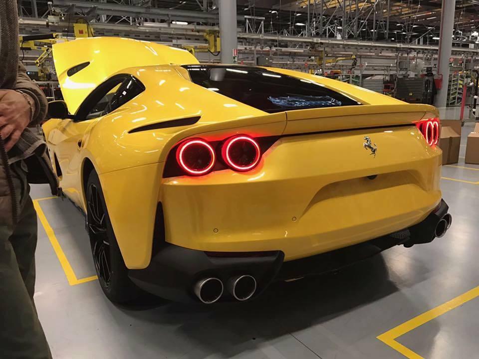 Bright Yellow Ferrari 812 Superfast Photographed Inside