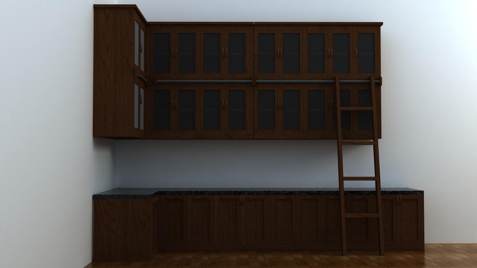 3d kitchen set simple design