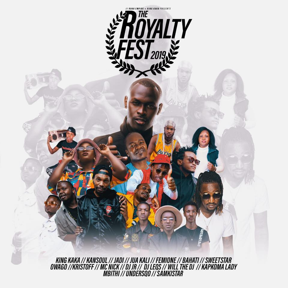 """How Kenyan Artist """"King Kaka"""" is using his Star-Power to impact Young talents in Eldoret :The Royalty Festival 2019 Campaign"""