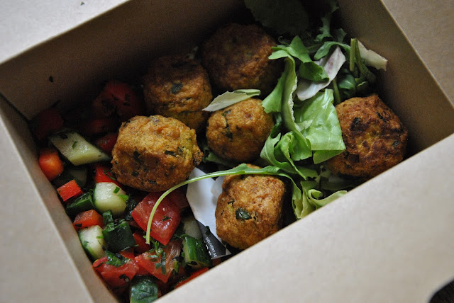 Fresh Parsnip Hauptgericht: Falafel Box