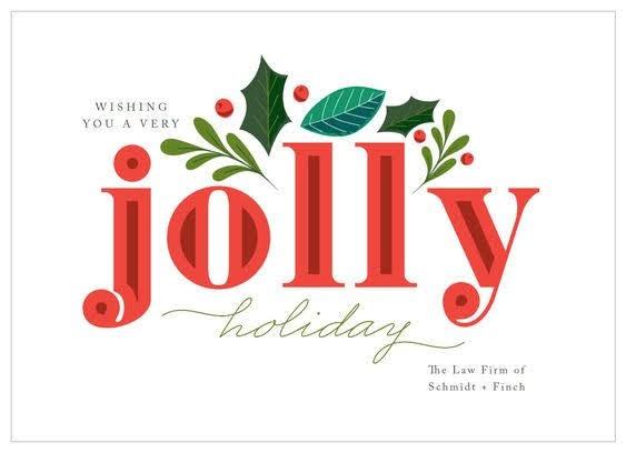 Jolly Mistletoe Corporate Holiday Card | Basic Invite