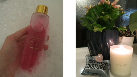 Gemporia Revive Bath Essence and Candle with crystals