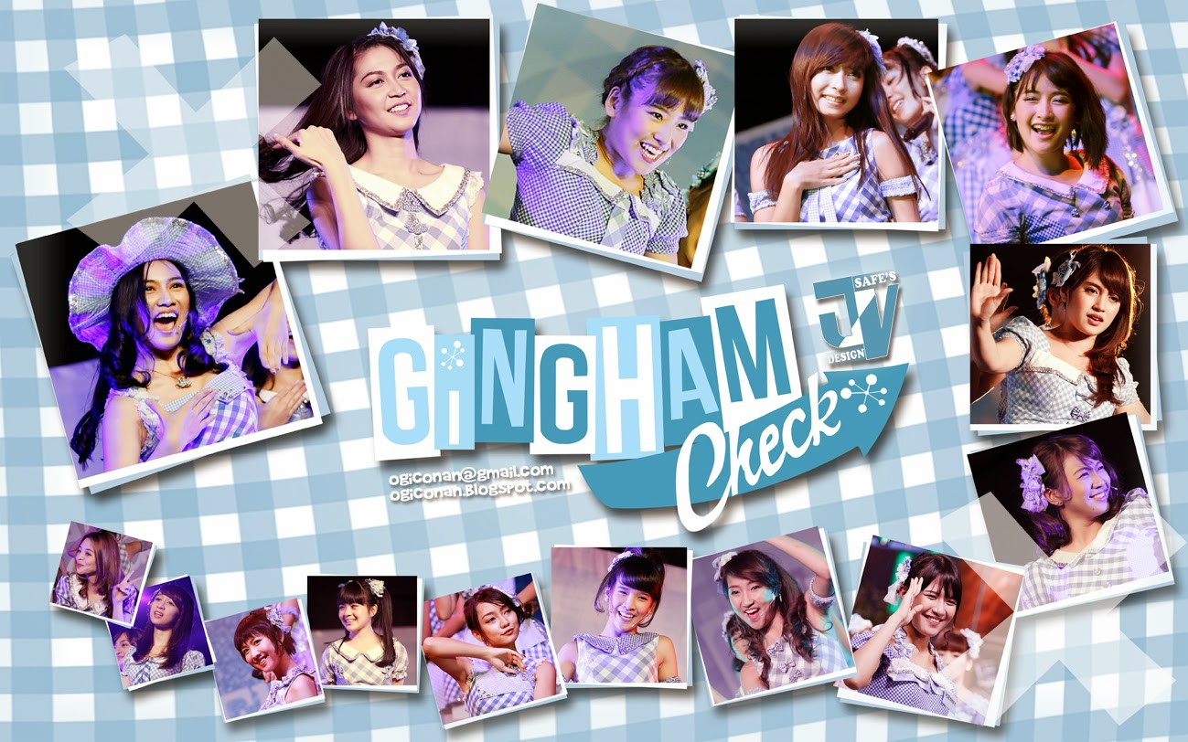 Gingham check Wallpaper edit