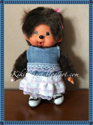 kiki monchhichi poupée doll couture sewing handmade fait main top skirt jupe vêtement