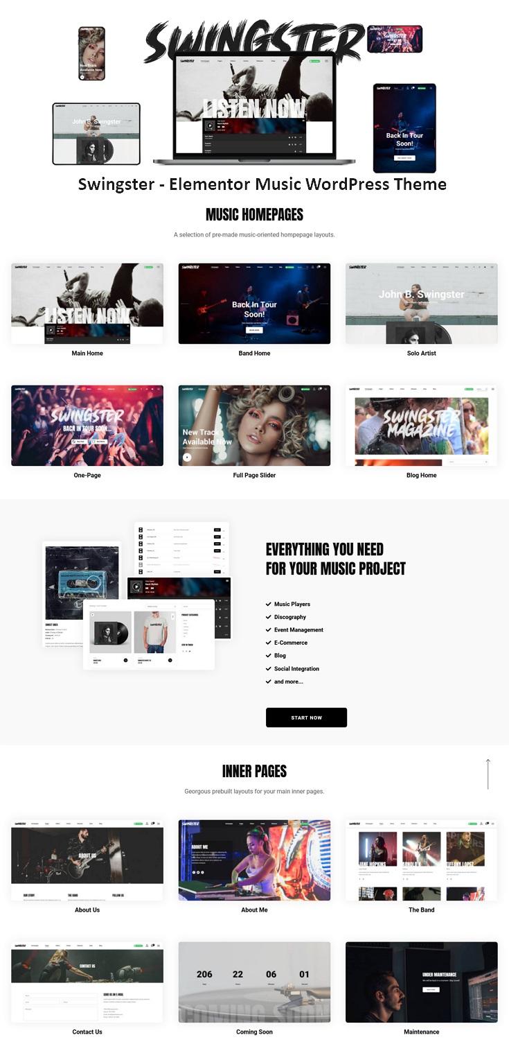 Elementor Music WordPress Theme