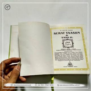 Rekomendasi Buku Yasin Hard Cover Custom Harga Dijamin Oke 👌