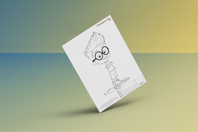 Free Printable Mr. Peabody & Sherman Coloriage Outline Blank Coloring Page pdf For Kids Kindergarten Preschool toddler coloring sheets 4