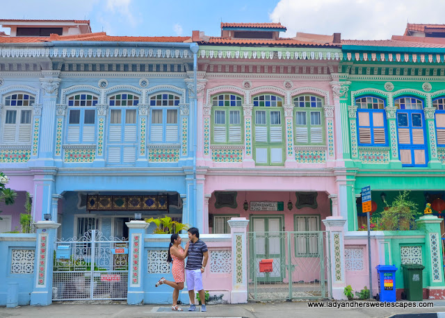 Peranakan homes in Katong