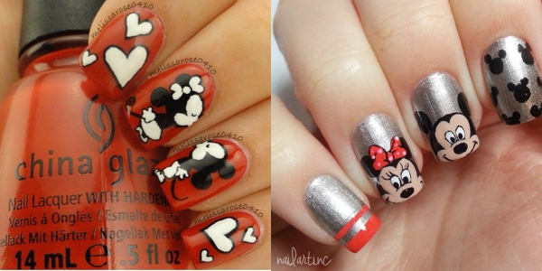 mickey mouse nail polish videos