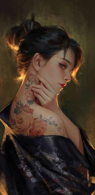 Cool Kimono Girl wallpaper