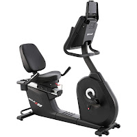 Sole R92 Recumbent Bike, features reviewed and compared with LCR. With 20 lb flywheel and 20 ECB resistance levels