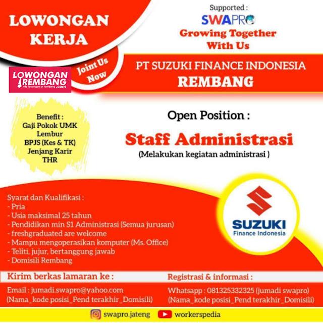 lowongan-kerja-staff-administrasi-pt-suzuki-finance-indonesia-rembang
