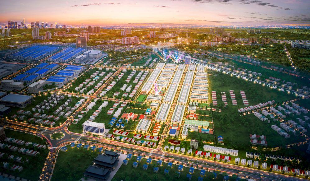 Hình ảnh tiến độ thực tế dự án KDC Minh Châu (Vạn Phát Avenue)