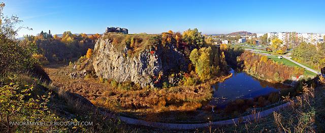 Kadzielnia w jesiennych kolorach