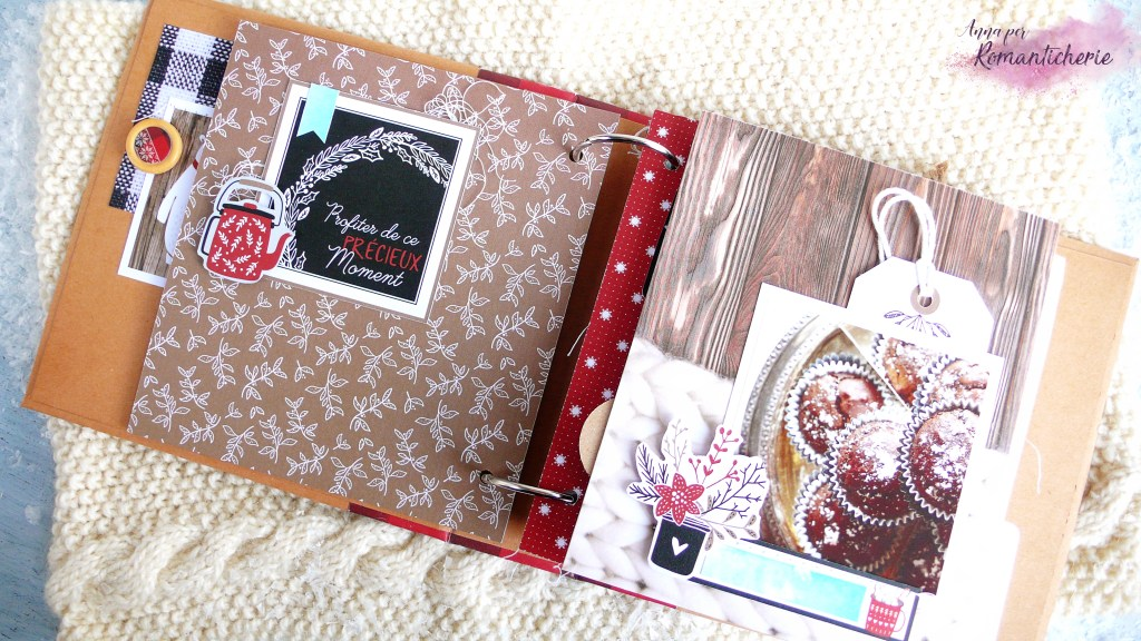 Mini Album con le carte Christmas Cocooning Florileges Design