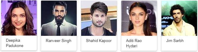 Padmaavat Movie Star Cast