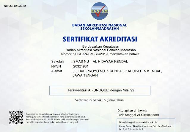 cetak piagam akreditasi