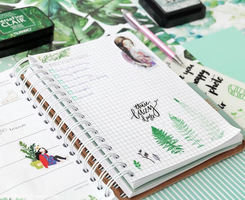 wakacyjny planer, urlopowy planer, bujo