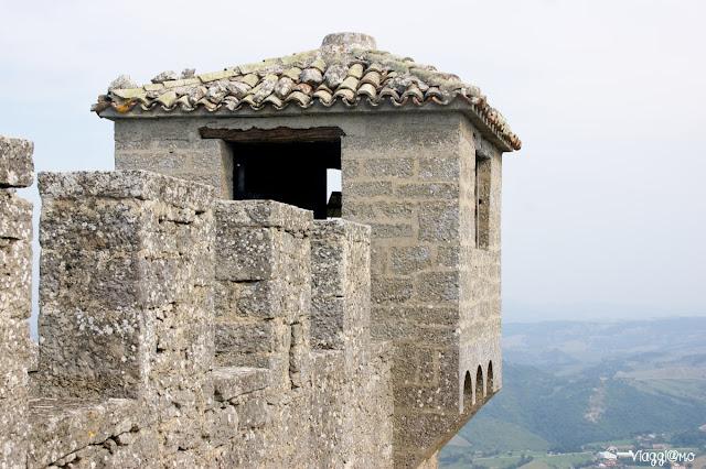 Lo splendido panorama dal secondo fortilizio di San Marino