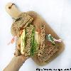 Omelette sandwich // Firm tofu sandwich