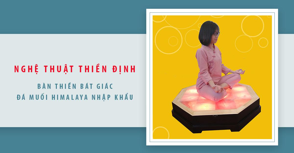 Bàn Thiền Bát Giác Đá Muối Himalaya