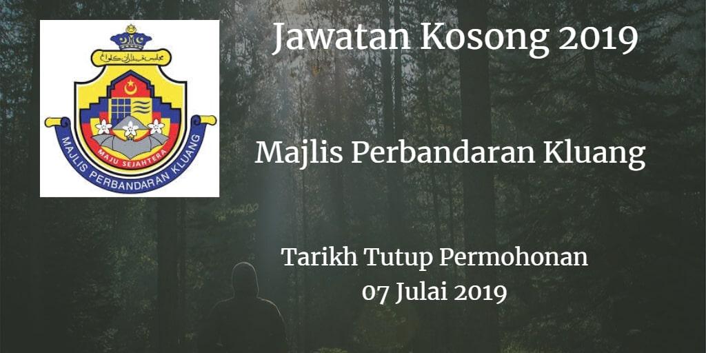 Jawatan Kosong MPK 07 July 2019