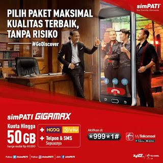Daftar Harga Paket Simpati Gigamax Telkomsel Tebaru 2018