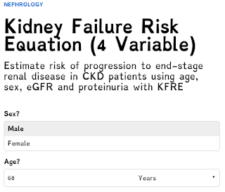 The Kidney Failure Risk Equation 4 Variables