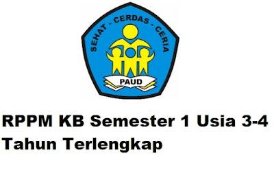RPPM KB Semester 1 Usia 3-4 Tahun