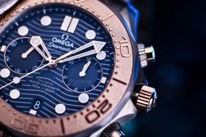 Review the Replica Omega Seamaster Diver 300M Chronograph Titanium, Tantalum and Gold