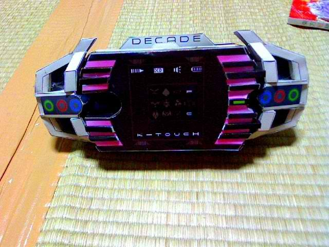 Alice In Wonderland Chair Sofa And Kamen Rider Decade Decadriver Belt Papercraft | Paradise Papercrafts Paper Models ...