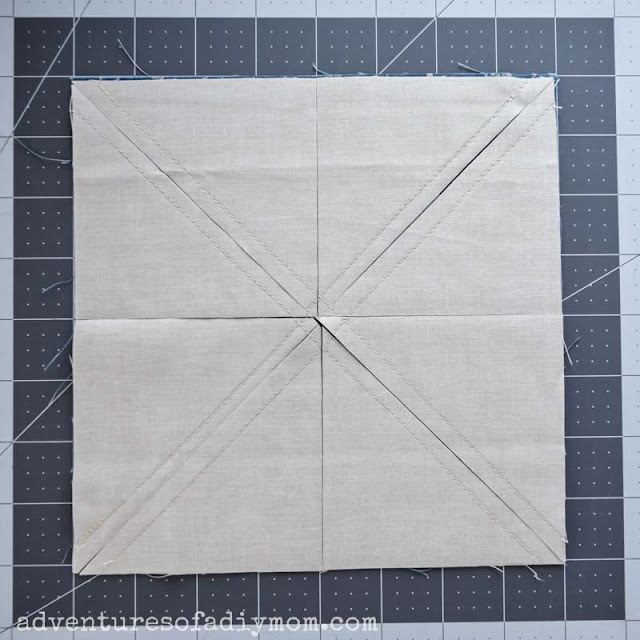 8 half square triangles at once