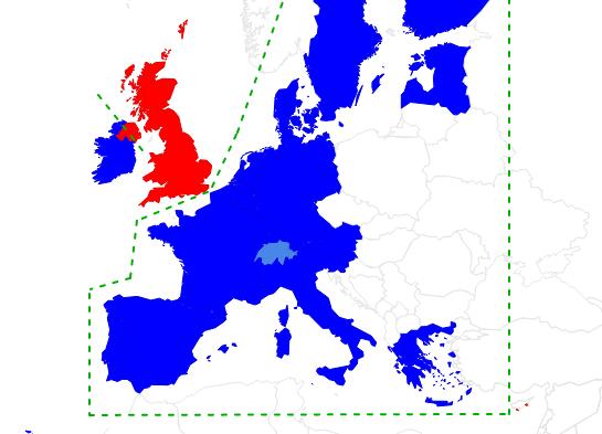 Europa-Karte: Virus-Abschottung vom Vereinigten Königreich
