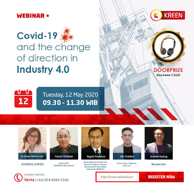 Kegiatan Webinar Covid-19 and the change of direction in Industry 4.0 - 12 MEI 2020