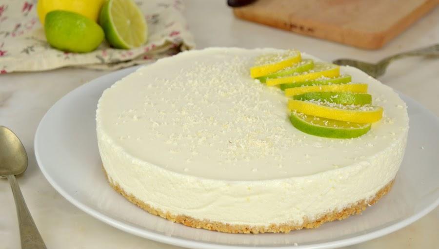 Tarta de limón con yogur ¡Sin horno!