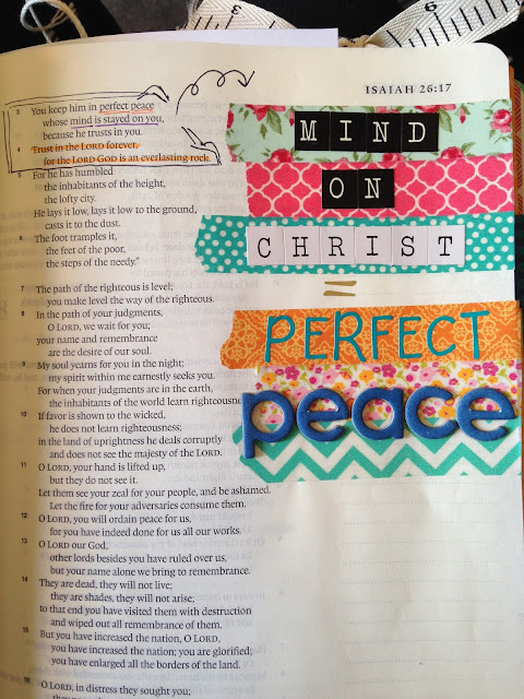 Bible Art Journal Entry - Mind On Christ = Perfect Peace
