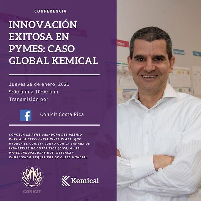 Invitación a conferencia: Innovación exitosa en pymes: caso Global Kemical.