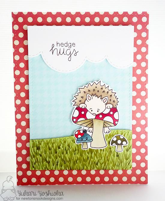 Hedgehog card by Yukari Yoshioka | Hedgehog Hollow Stamp set by Newton's Nook Designs #newtonsnook #hedgehog