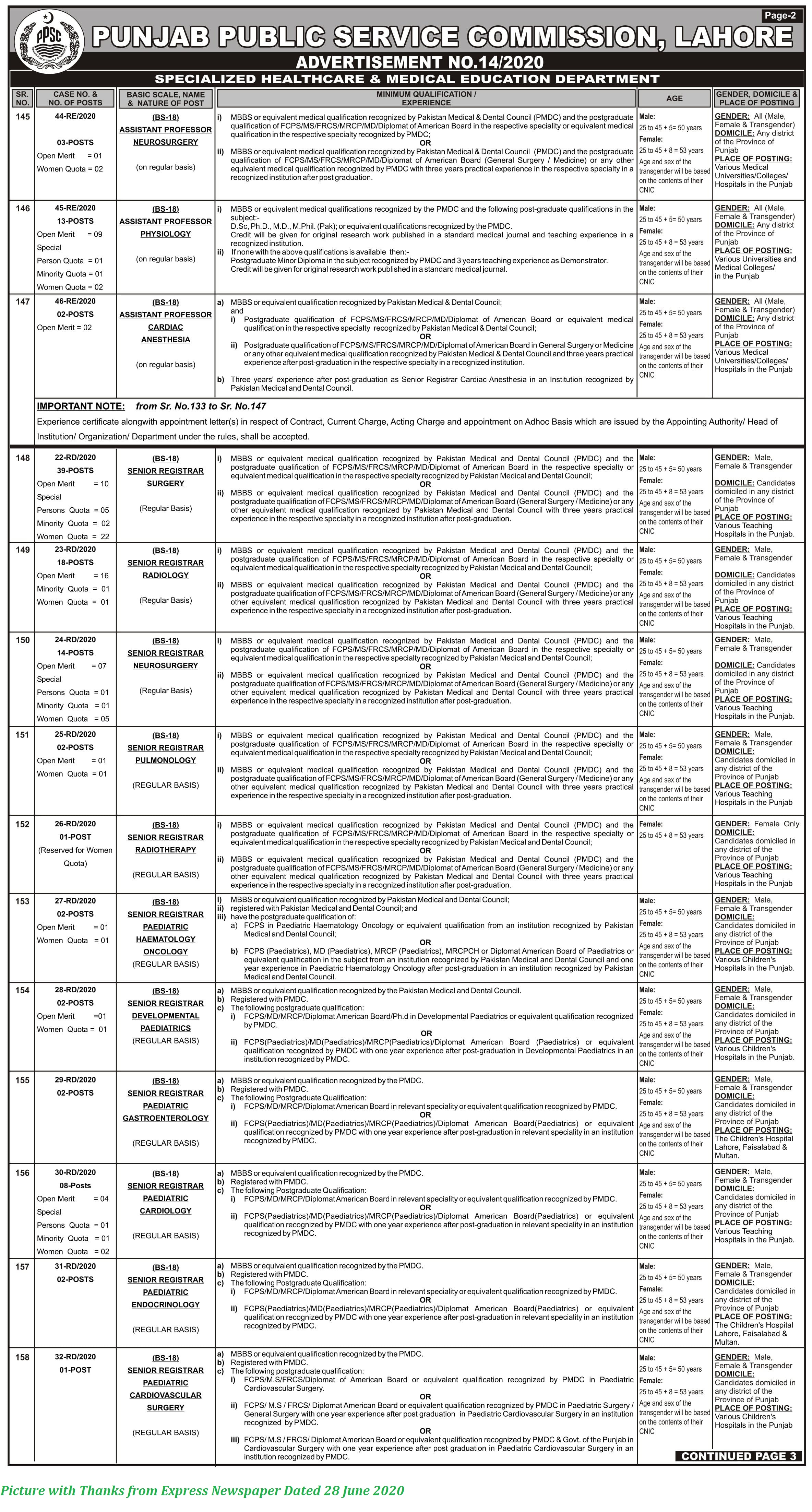 PPSC Jobs 2020 - Latest PPSC Jobs June 2020 Apply Online Advertisement No. 14/2020