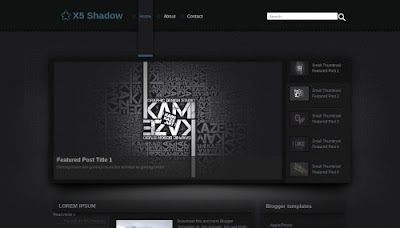 X5 Shadow Blogger Templates