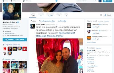 Twitter Andrés Iniesta