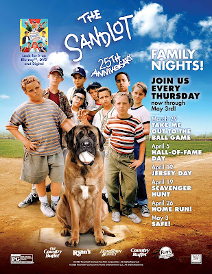 Enter The Sandlot Blu-Ray + Digital DVD Giveaway. Ends 4/18