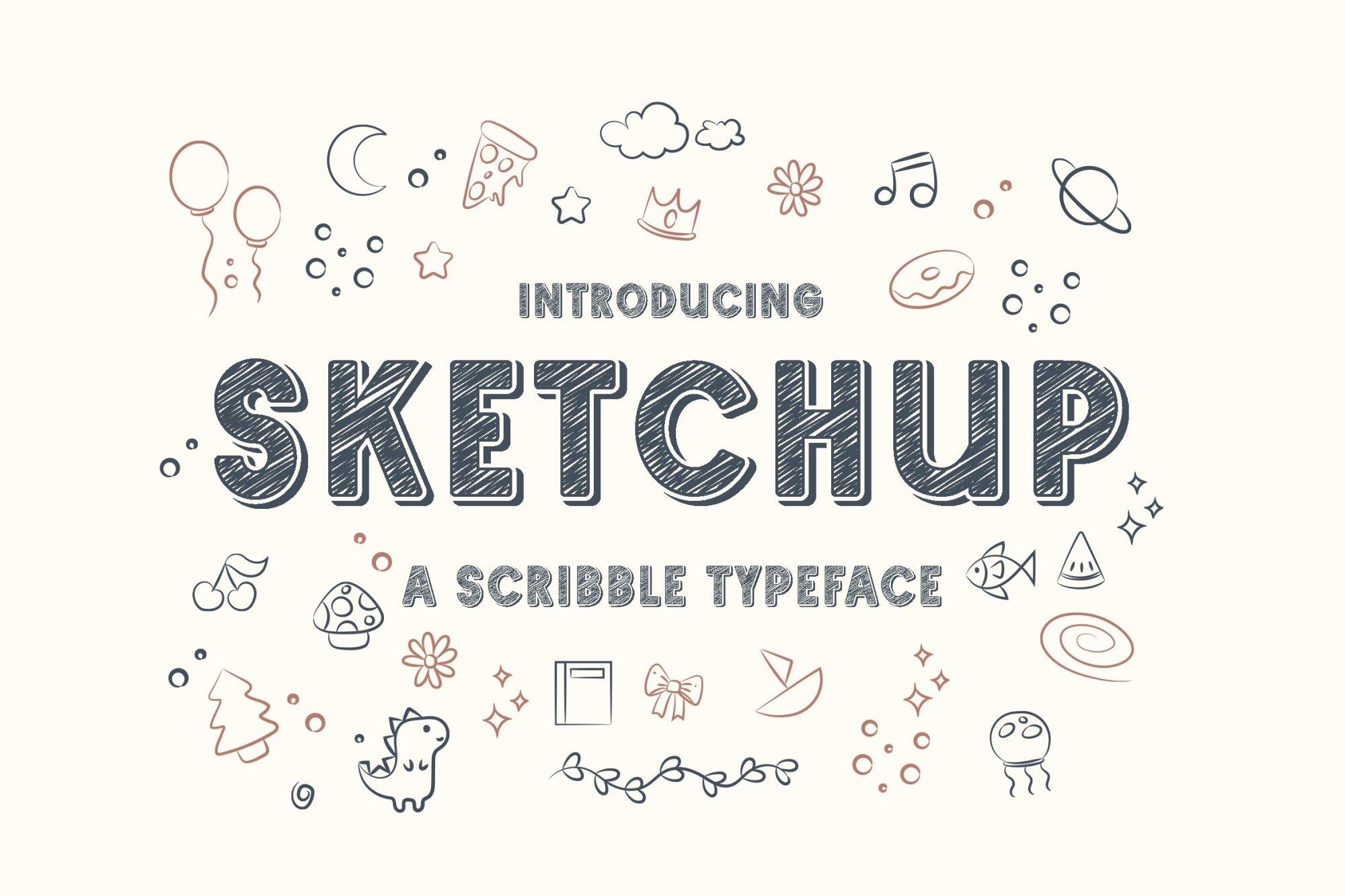 Sketchup Font - Free Chalk Display Typeface