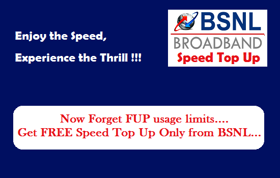 BSNL started offering Pre-FUP download speed absolutely free of cost to its unlimited broadband customers crossing their FUP usage limit