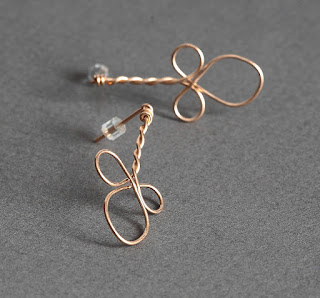 Bronze Twisted Wire Wrapped Earrings - New Listing